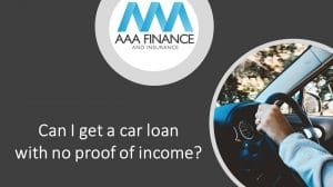 Can I get a car loan with no proof of income
